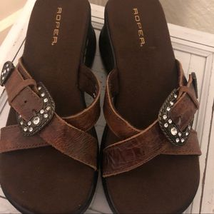 ROPER sandals ( worn only once)